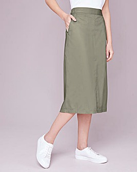 Julipa Khaki Cotton Poplin Skirt