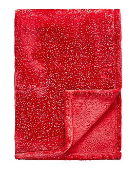 Red Sparkle Fleece Throw