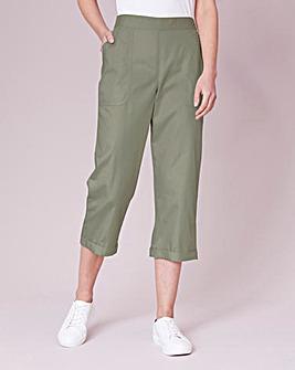 Julipa Cotton Poplin Cropped Trouser