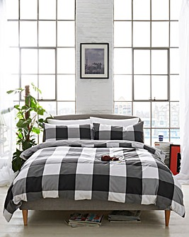 Boston Check Black Duvet Cover Set