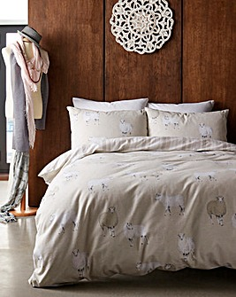 Sheep Brushed Cotton Duvet Cover Set