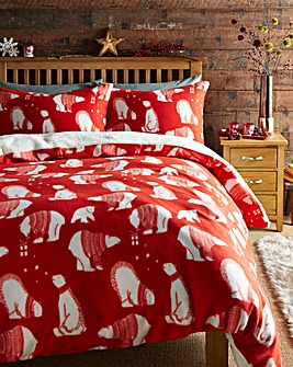 Polar Bear Fleece Duvet Cover Set