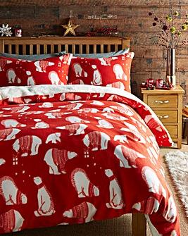 Polar Bear Fleece Duvet Cover Set