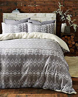 Alpine Cuddle Fleece Duvet Cover Set