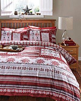 Winter Patchwork Duvet Cover Set