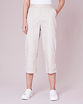 Julipa Cotton Poplin Cropped Trouser
