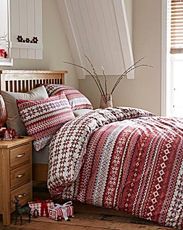Fairailse Red Duvet Cover Set