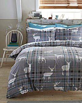 Stags Brushed Cotton Duvet Cover Set