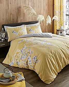 Oriental Blossom Duvet Cover Set