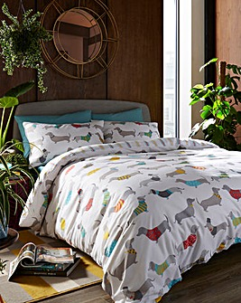 Silly Sausage Dogs Duvet Cover Set