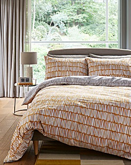 Malbec Grey & Ochre Duvet Cover Set