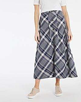 Julipa Check Button Through Skirt