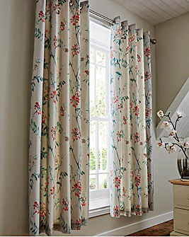 Marldon Lined Curtains and Tiebacks