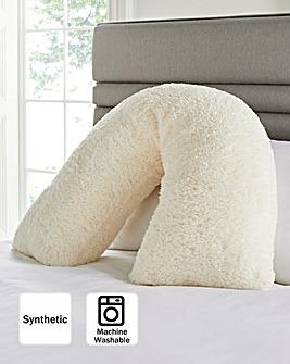 Cuddle Fleece V Pillow - Cream