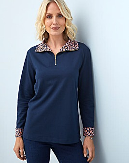 Julipa Leisure Zip Jersey Top