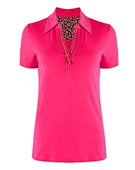 Julipa Leisure Short Sleeve Polo Top