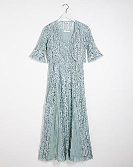 Julipa Crinkle Lace Dress and Shrug