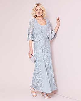 Julipa Crinkle Lace Dress and Shrug
