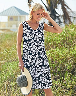 Julipa Mono Print Jersey Sun Dress