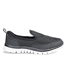 Cushion Walk Diamante Trainers E Fit