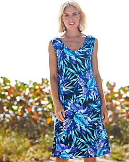 Julipa Black Print Jersey Sun Dress