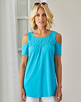 Julipa Cold Shoulder Top with Lace
