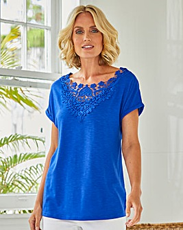 Julipa Crochet Trim T-Shirt
