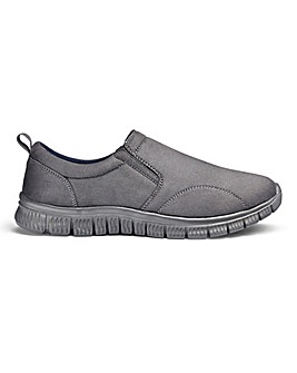 Cushion Walk Slip on Trainers Std Fit