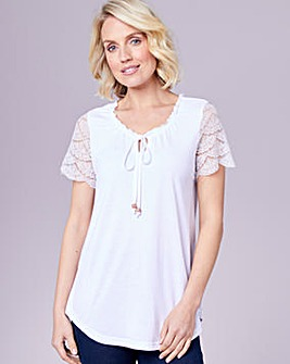 Julipa Lace Sleeve Gypsy Top