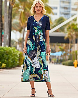 Julipa Jersey Maxi Dress with Shrug