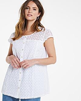 Julipa Cotton Lace Shoulder Blouse