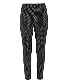 "Julipa Textured Stretch Trousers 27"""