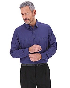 Navy Long Sleeve Military Shirt Long