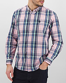 Pink Check Long Sleeve Poplin Shirt Long