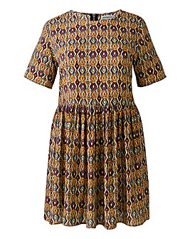 Alice And You Tan Multi Print Tunic-L