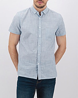 Blue Fine Stripe Short Sleeve Shirt