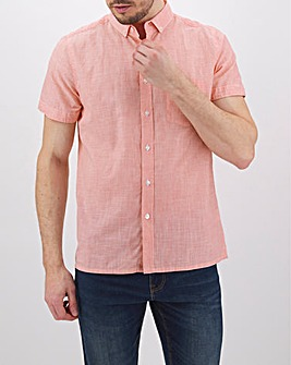 Coral Fine Stripe Short Sleeve Shirt