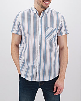Pastel Stripe Short Sleeve Shirt
