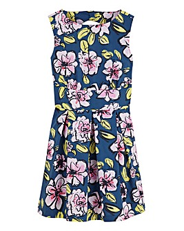 Closet Floral Print Skater Dress