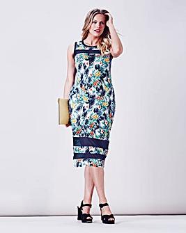 Simply Be Tropical Print Bodycon Dress