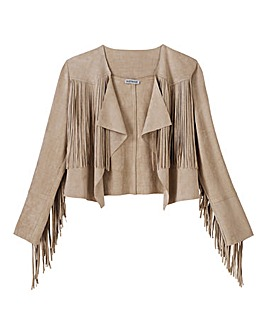 Alice and You Suedette Fringe Jacket