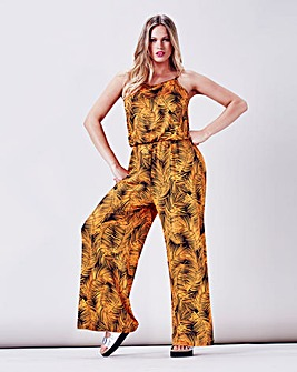 Simply Be Palm Print Jumpsuit