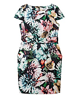 Closet Floral Tulip Tie Back Dress