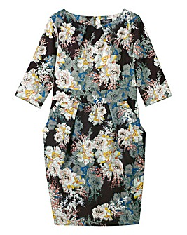 Closet Floral Tie Back Dress