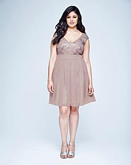 Little Mistress Sequin Top Dress