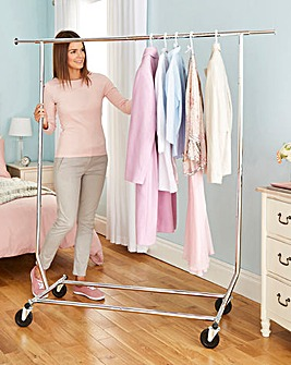 Folding Garment Rack and Cover