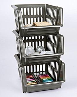 Stacking Baskets Set of 3