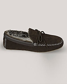 Lazydogz Real Suede Moccasin Slipper