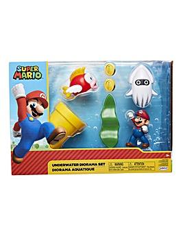 Nintendo Mario Underwater Diorama Playset