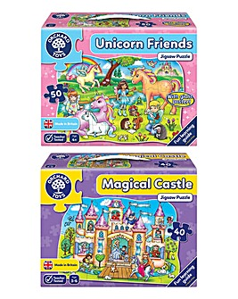 Magical Puzzles Unicorn Friends & Magical Castle 2 Pack Game
